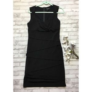 White House Black Market tiered midi dress size 12